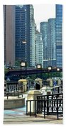 Chicago River Walk Invites You Bath Towel