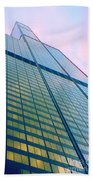 Chicago Sears Willis Tower Pop Art Bath Towel