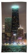 Chicago Skyline At Night North Ave Beach V2 Dsc1732 Bath Towel