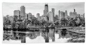 Chicago Skyline - Lincoln Park Bath Towel