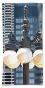 Chicago Street Lamps Bath Towel