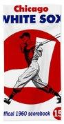 Chicago White Sox 1960 Scorebook Bath Towel