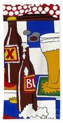 Chichis Y Cervesas Hand Towel by Rojax Art