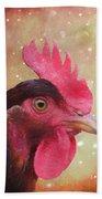 Chicken Portrait - Painting Bath Towel