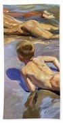 Children On The Beach Bath Towel