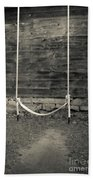 Child's Swing On An Old Farm Hand Towel