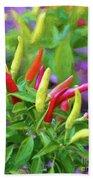 Chili Pepper Art Bath Sheet