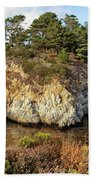 China Cove, Point Lobos Bath Towel by Yair Karelic