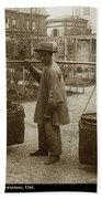 Chinese Vegtable Pedler In San Francisco Circa 1880 Bath Towel