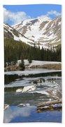 Chinns Lake Reflections 3 Bath Towel