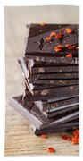 Chocolate And Chili Hand Towel by Nailia Schwarz