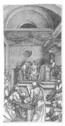 Christ Among The Doctors In The Temple 1503 Bath Towel