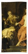 Christ And The Penitent Sinners Bath Towel