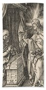 Christ Appearing To His Mother, From The Small Passion Bath Towel