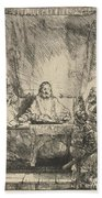 Christ At Emmaus: The Larger Plate Bath Towel