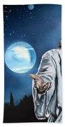 Christ At Night Bath Towel
