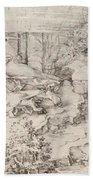 Christ On The Mount Of Olives 1521 Bath Towel