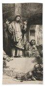 Christ Preaching (la Petite Tombe) Bath Towel