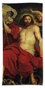 Christ Triumphant Over Sin And Death Bath Towel