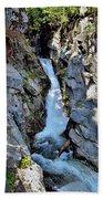 Christine Falls - Upper Part - Mount Rainier National Park 3 Bath Towel