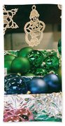 Christkindlmarkt Vienna Ornaments Bath Towel