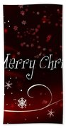Christmas Card 3 Bath Towel