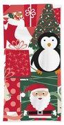 Christmas Collage Bath Towel