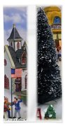 Christmas Display - Gently Cross Your Eyes And Focus On The Middle Image Bath Towel