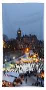 Christmas Fair Edinburgh Scotland Bath Towel