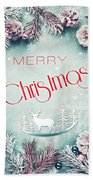 Christmas Greeting Card, By Imagineisle Bath Towel
