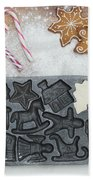 Christmas Interior With Sweets And Vintage Kitchen Tools Bath Towel