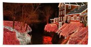 Christmas Lights At Clifton Mill Hand Towel