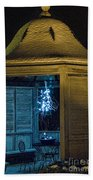 Christmas Lights In Gazebo Bath Towel