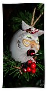 Christmas Owl Bath Towel