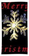 Christmas Snowflakes Bath Towel