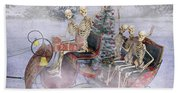 Christmas Spirits Heading To Topsail Island Nc Hand Towel