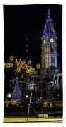Christmas Village - Philadelphia Bath Towel