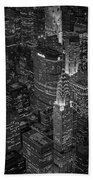 Chrysler Building Aerial View Bw Bath Towel