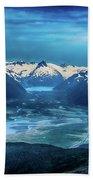 Chugach Mountain Range Bath Towel