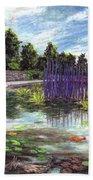 Chuhuly Installation At Biltmore Water Gardens Hand Towel