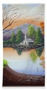 Church By The Lake Bath Towel