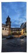 Church Of Santo Domingo Panorama Cadiz Spain Bath Towel