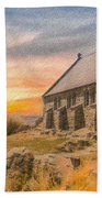 Church On The Hill Bath Towel