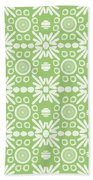 Cilantro- Green And White Art By Linda Woods Bath Towel
