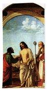 Cima Da Conegliano The Incredulity Of St Thomas With St Magno Vescovo Bath Towel