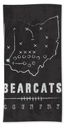 Cincinnati Bearcats / Ncaa College Football Art / Ohio Hand Towel by Damon Gray
