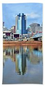 Cincinnati Ohio Times Two Bath Towel