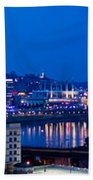 Cincinnati Skyline At Night Bath Towel