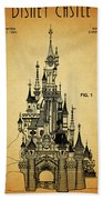 Cinderella Castle Patent Bath Towel