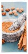 Cinnamon In Mortar Bath Towel